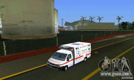 RTW Ambulance für GTA Vice City zurück linke Ansicht
