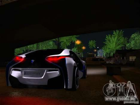 BMW Vision Efficient Dynamics I8 für GTA San Andreas Rückansicht