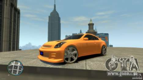 INFINITI G35 COUPE TUNNING pour GTA 4