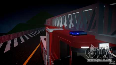 Scania Fire Ladder v1.1 Emerglights blue [ELS] für GTA 4 Unteransicht