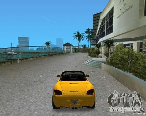Porsche Boxster 2010 für GTA Vice City zurück linke Ansicht