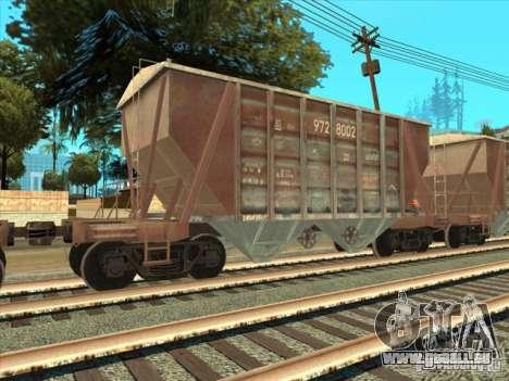 Wagons pour GTA San Andreas vue de droite