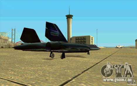 SR-71A BLACKBIRD BETA für GTA San Andreas Innenansicht
