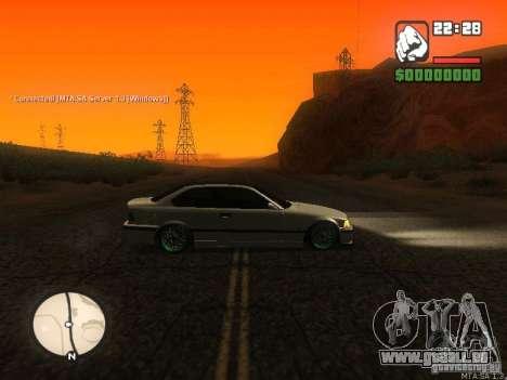 BMW E36 Tuning pour GTA San Andreas laissé vue