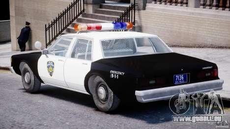 Chevrolet Impala Police 1983 [Final] pour GTA 4 est un droit