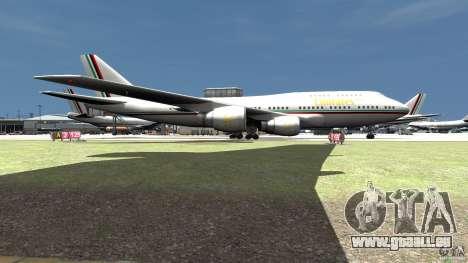 Real Emirates Airplane Skins Flagge pour GTA 4 Vue arrière de la gauche