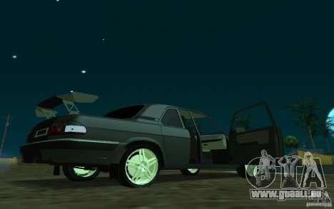 GAZ 31105 coupé pour GTA San Andreas sur la vue arrière gauche