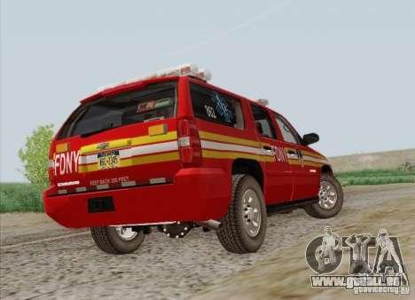 Chevrolet Suburban EMS Supervisor 862 pour GTA San Andreas vue de côté