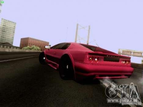 Lotus Esprit V8 pour GTA San Andreas sur la vue arrière gauche