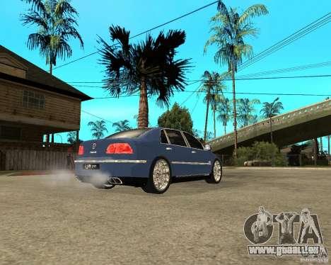 Volkswagen Phaeton für GTA San Andreas zurück linke Ansicht