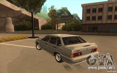 VAZ 2115 Lager v1. 0 für GTA San Andreas zurück linke Ansicht