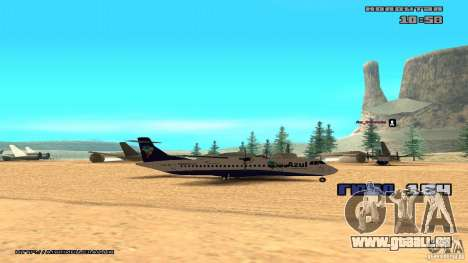 ATR 72-500 Air Azul für GTA San Andreas zurück linke Ansicht