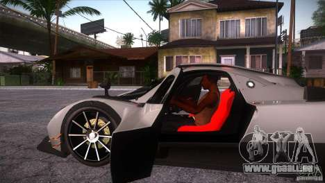 Pagani Zonda R für GTA San Andreas Seitenansicht