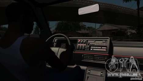 VW Golf 2 pour GTA San Andreas vue de dessus