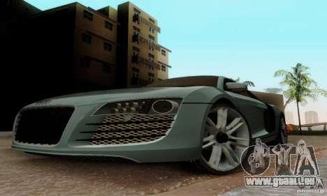 Audi R8 LeMans pour GTA San Andreas laissé vue