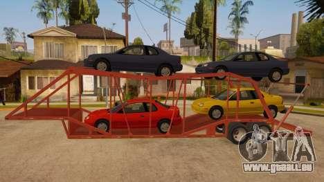 Auflieger-LKW für GTA San Andreas linke Ansicht
