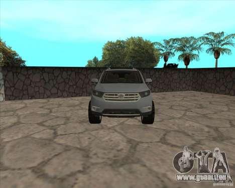 Toyota Highlander pour GTA San Andreas vue de droite