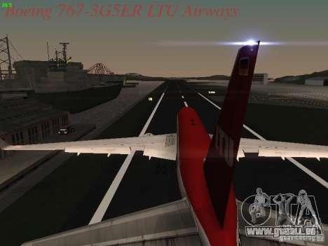 Boeing 767-3G5ER LTU Airways für GTA San Andreas obere Ansicht