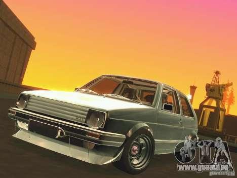 Volkswagen Golf MkII Racing pour GTA San Andreas vue intérieure