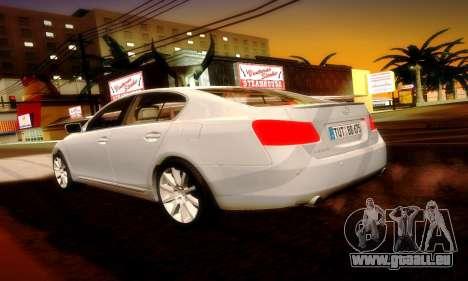 Lexus GS430 pour GTA San Andreas sur la vue arrière gauche