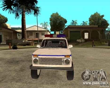 VAZ 2121 Police pour GTA San Andreas vue arrière
