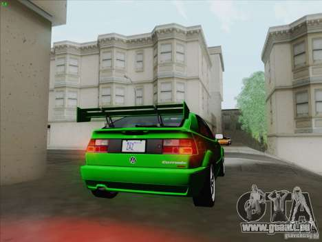 Volkswagen Corrado 1995 pour GTA San Andreas vue arrière