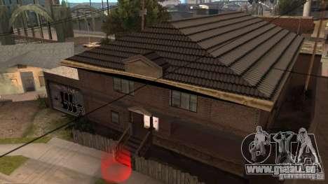Neue Startseite CJ (neue Cj Haus GLC Prod v1. 1) für GTA San Andreas zweiten Screenshot