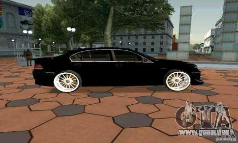 BMW 760LI pour GTA San Andreas laissé vue