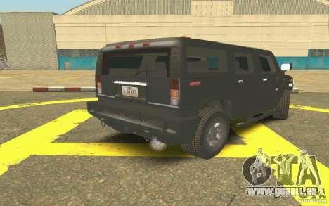 Hummer H2 Stock für GTA San Andreas rechten Ansicht