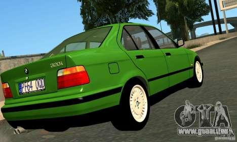 BMW E36 320i pour GTA San Andreas sur la vue arrière gauche