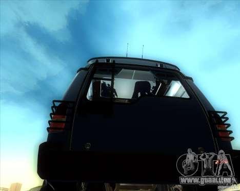 Landrover Discovery 2 Rally Raid pour GTA San Andreas sur la vue arrière gauche