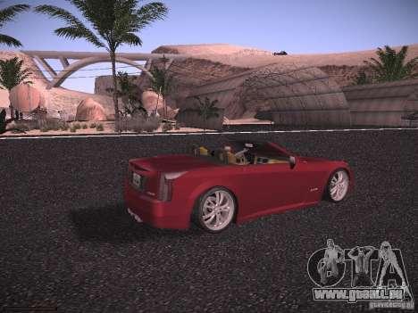 Cadillac XLR 2006 pour GTA San Andreas sur la vue arrière gauche