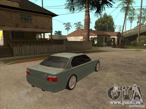 BMW E38 M7 pour GTA San Andreas vue de droite