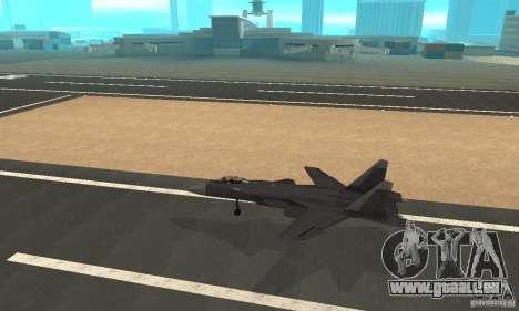 Su-47 Berkut Stanardarbeitsplan für GTA San Andreas linke Ansicht