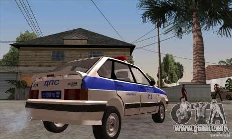 ВАЗ 2114 Police pour GTA San Andreas vue de droite