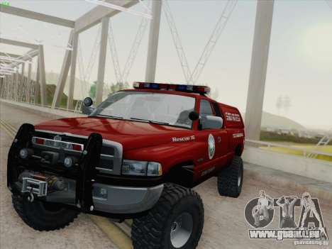 Dodge Ram 3500 Search & Rescue pour GTA San Andreas salon