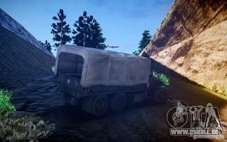 Camion militaire de Mafia II pour GTA 4 est un droit