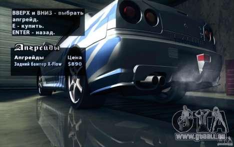 Nissan Skyline GTR R34 VSpecII für GTA San Andreas Räder