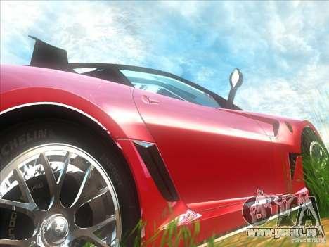 Ferrari 599XX für GTA San Andreas Rückansicht