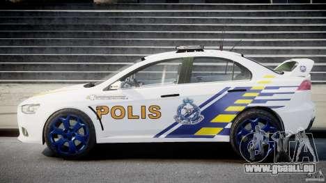 Mitsubishi Evolution X Police Car [ELS] für GTA 4 Innenansicht