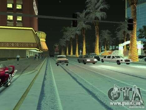 Neige v 2.0 pour GTA San Andreas deuxième écran