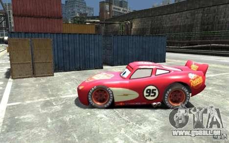 Lighting McQueen für GTA 4 linke Ansicht