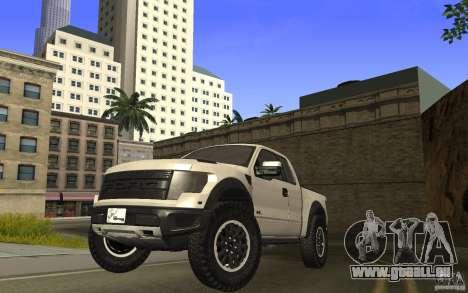 Ford F150 SVT RapTor für GTA San Andreas zurück linke Ansicht