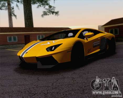 Lamborghini Aventador LP700-4 2011 für GTA San Andreas Unteransicht
