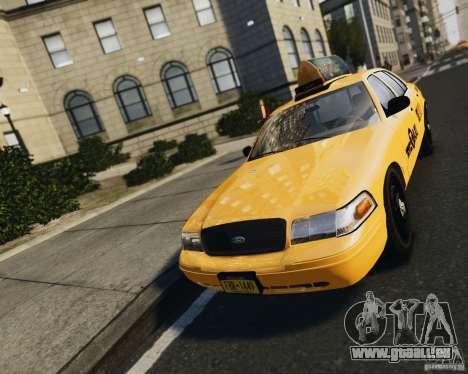Ford Crown Victoria NYC Taxi 2012 pour GTA 4 Vue arrière