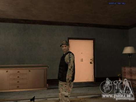 Army Soldier Skin für GTA San Andreas sechsten Screenshot