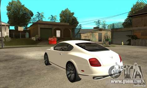 Bentley Continental Supersports für GTA San Andreas zurück linke Ansicht