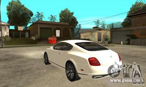 Bentley Continental Supersports pour GTA San Andreas sur la vue arrière gauche