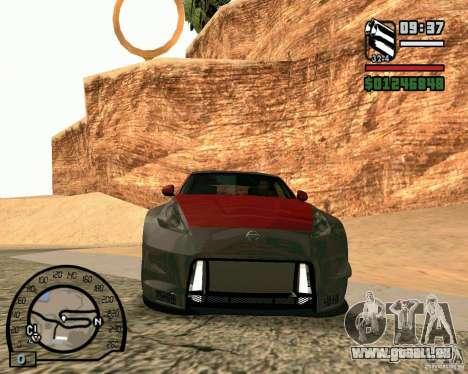 Nissan 370Z Undercover pour GTA San Andreas laissé vue