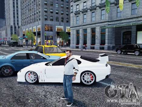 Toyota Supra Drift Setting pour GTA 4 est une gauche